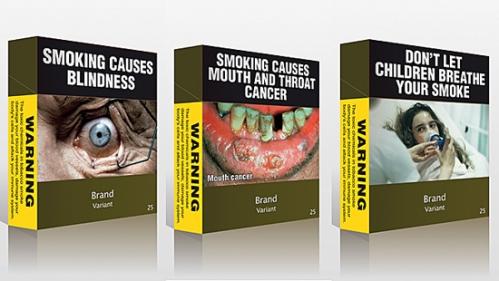 in australia obbligo di vendita di pacchetti anonimi con foto danni derivanti dal fumo